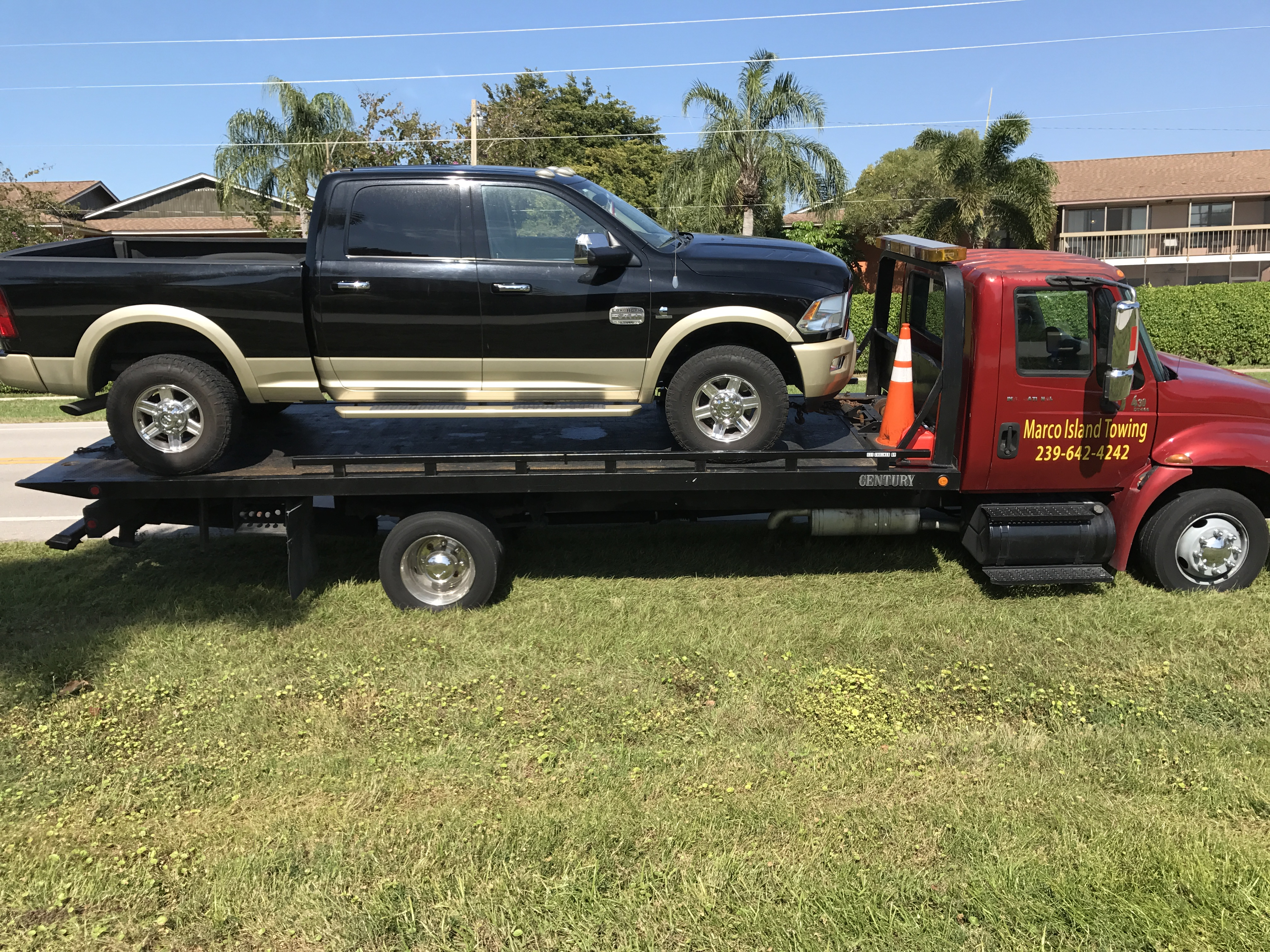 dodge ram flatbed tow