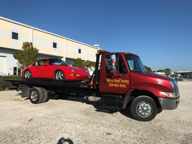 Porsche towed from Marco Island